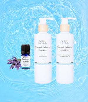 All Natural Hair Duo Set + free gift Lavender Essential Oil - Native Essentials
