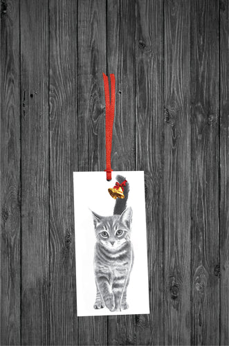 Kitten Christmas Tag