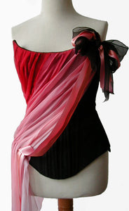 Pink to Red Chiffon Sash