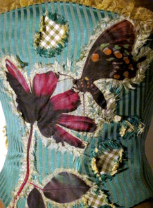 Butterfly And Daisy With Gingham Patches