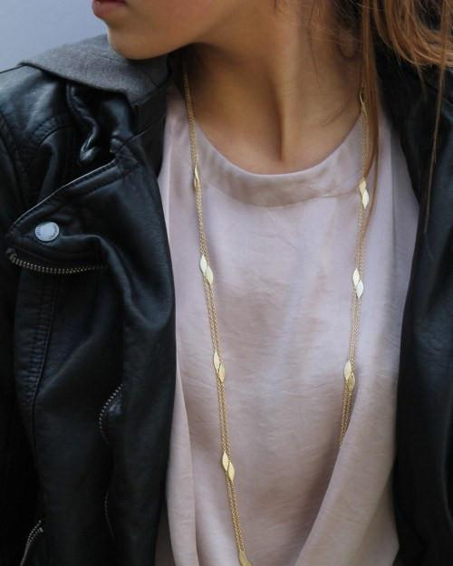 LONG GOLD ARGYLE NECKLACE