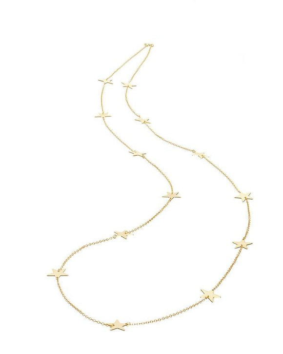 LONG GOLD ALL STAR NECKLACE