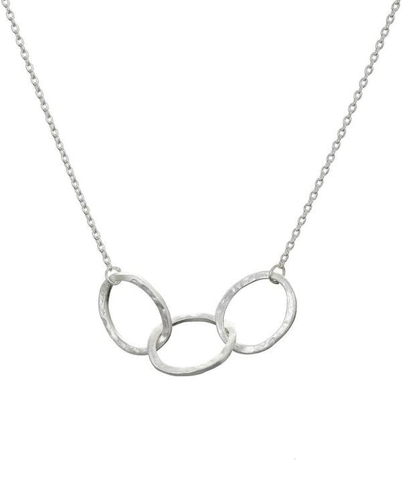 SILVER 3 OVAL LINK NECKLACE