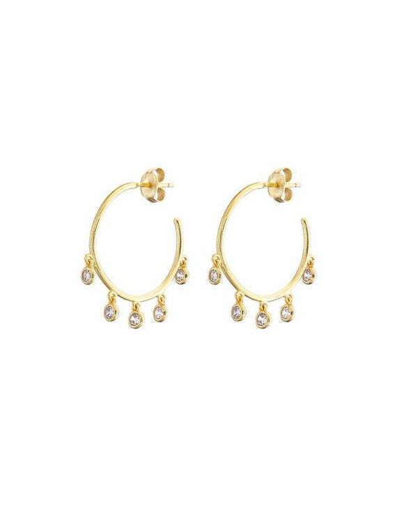 GOLD DROPLET HOOP EARRINGS