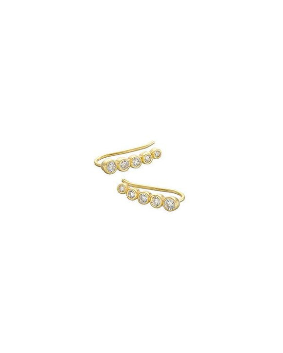 GOLD 5 STONE CLIMBER EARRING