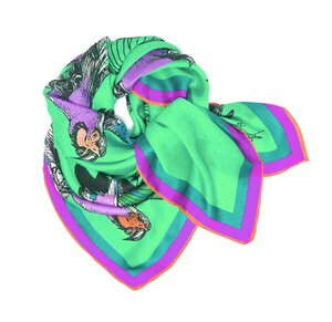 Bird Cage Luxury Silk Scarf by Debbie Millington