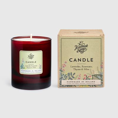SOY CANDLE - LAVENDER, ROSEMARY, THYME & MINT 160G