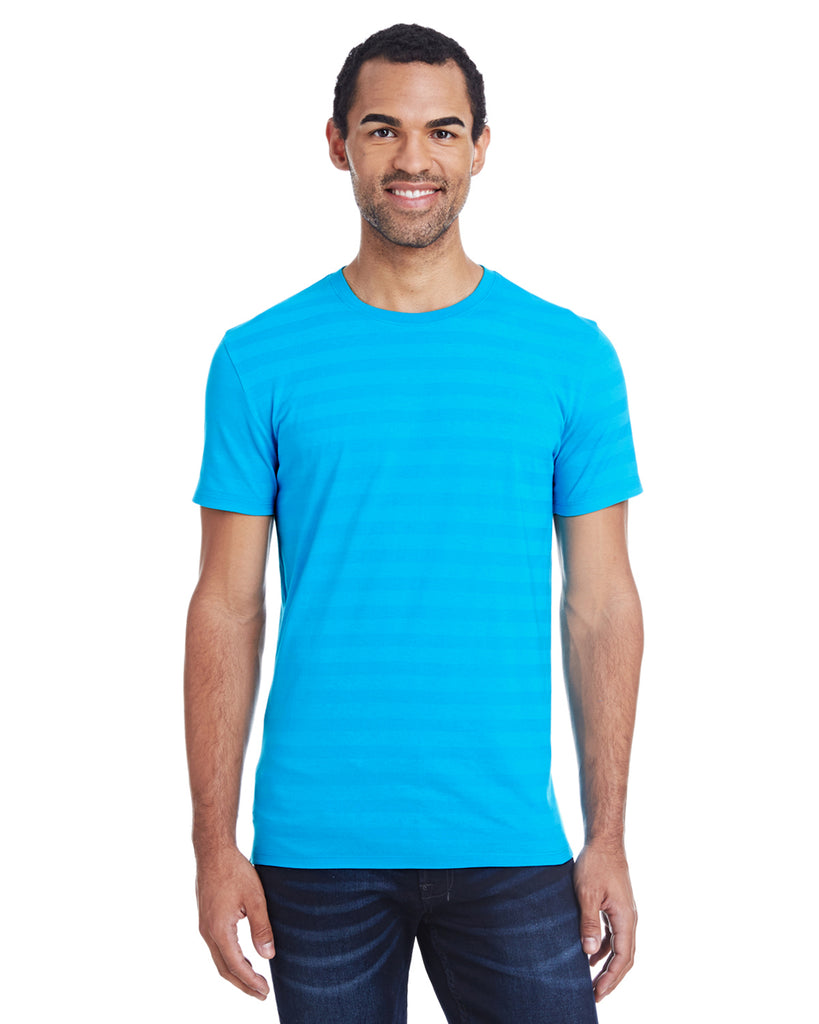 Threadfast 152A - Men's Invisible Stripe Short-Sleeve T-Shirt