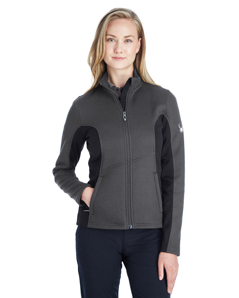 Spyder Ladies Constant Fullzip Sweater Fleece Jacket Polar Blk Wht