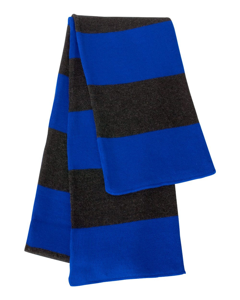 Sportsman Rugby-Striped Knit Scarf