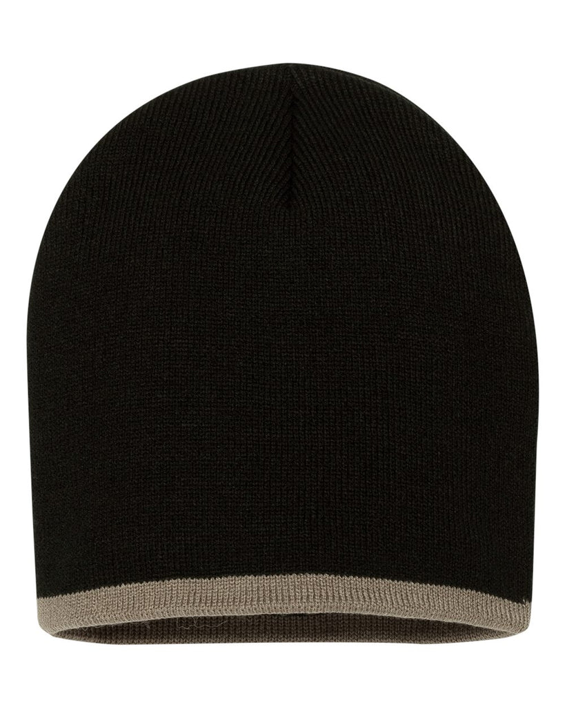 "Sportsman 8"" Bottom-Striped Knit Beanie"