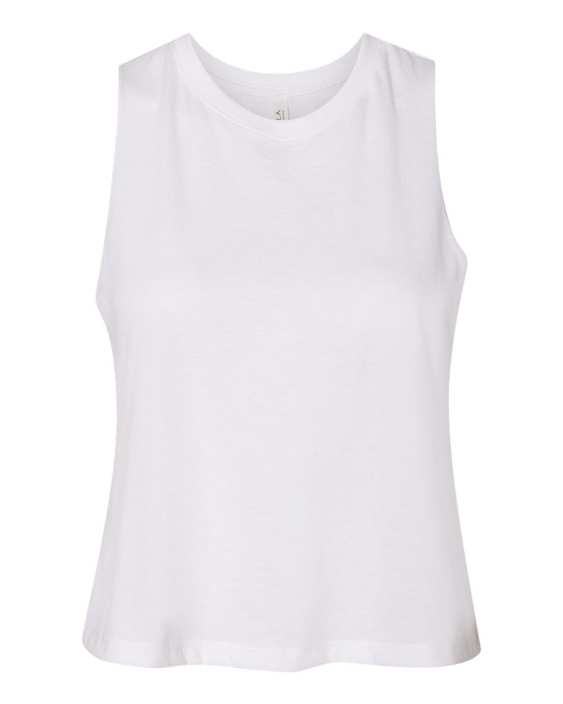 Bella  Canvas Women's Racerback Cropped Tank