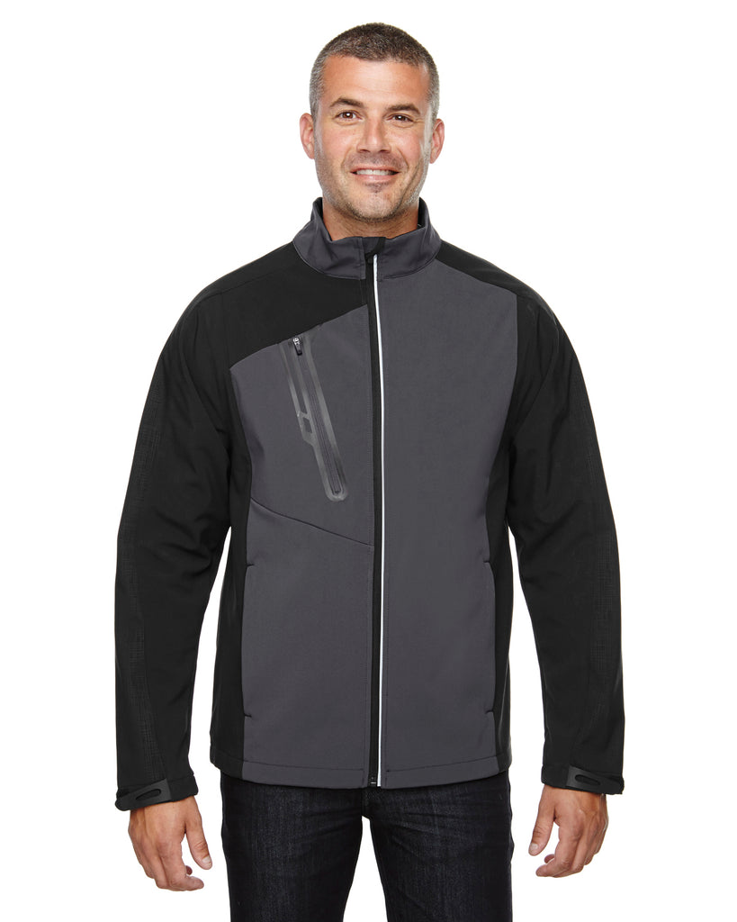 Ash City North End 88176 - Terrain Men Color-Block Soft Shell With Embossed Print