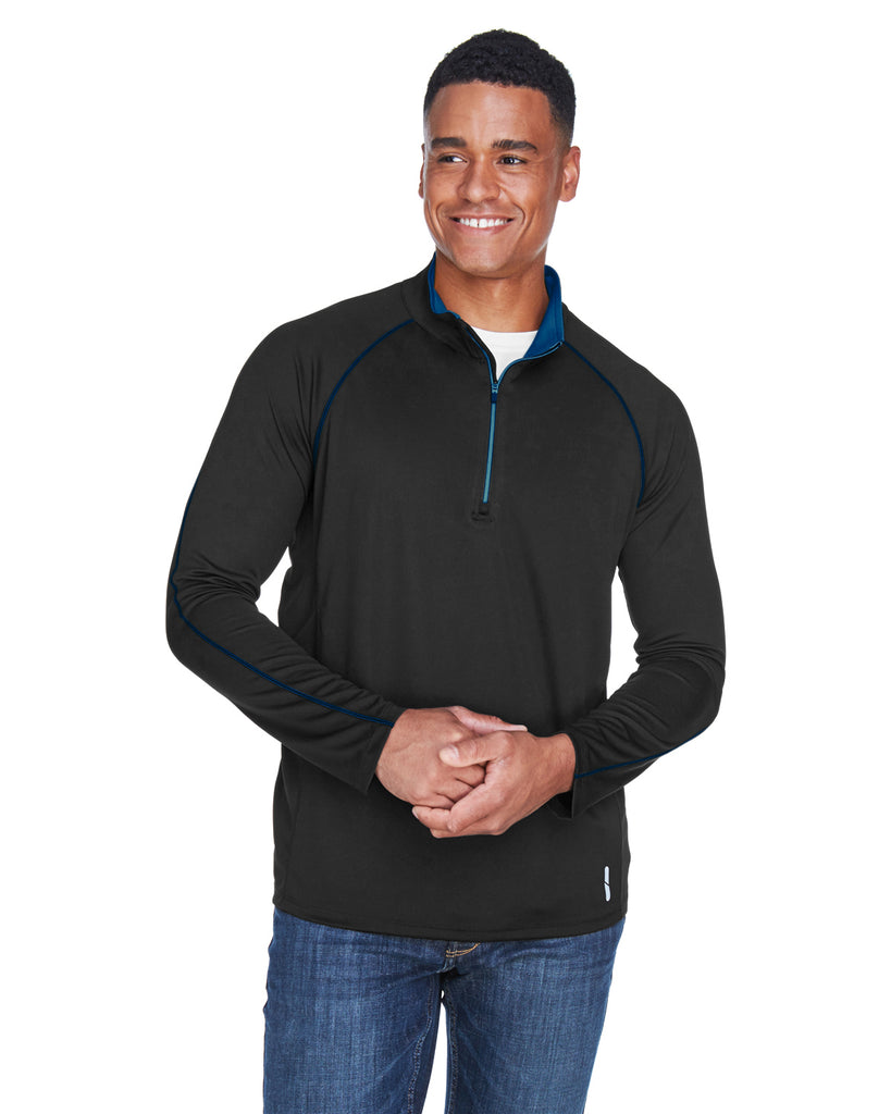 Ash City North End 88187 - Radar Men's Half-Zip Performance Long Sleeve Top
