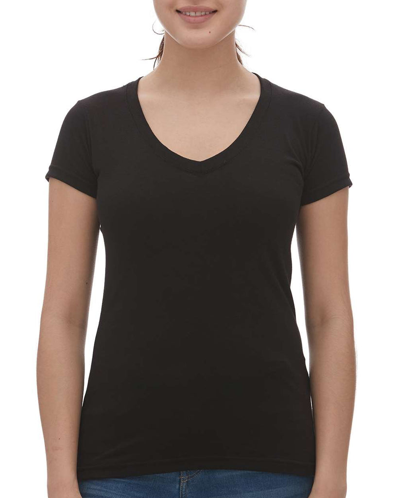 M&O Women's Fine Blend V-Neck T-Shirt