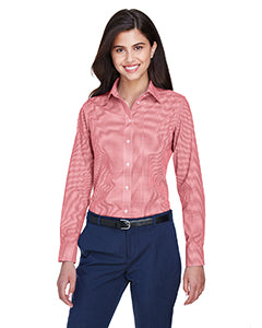 Devon & Jones Ladies Crown Woven Collection Gingham Check  D640W