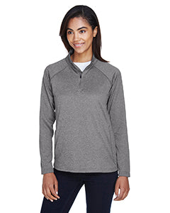devon & jones ladies stretch tech shell compass quarter zip  dg440w