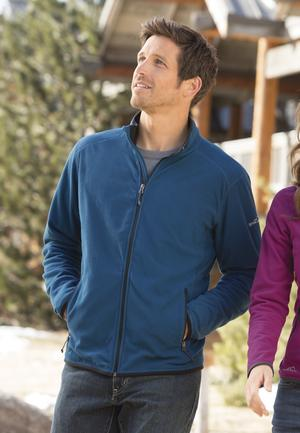Eddie Bauer EB222 Vertical Fleece Full Zip Jacket