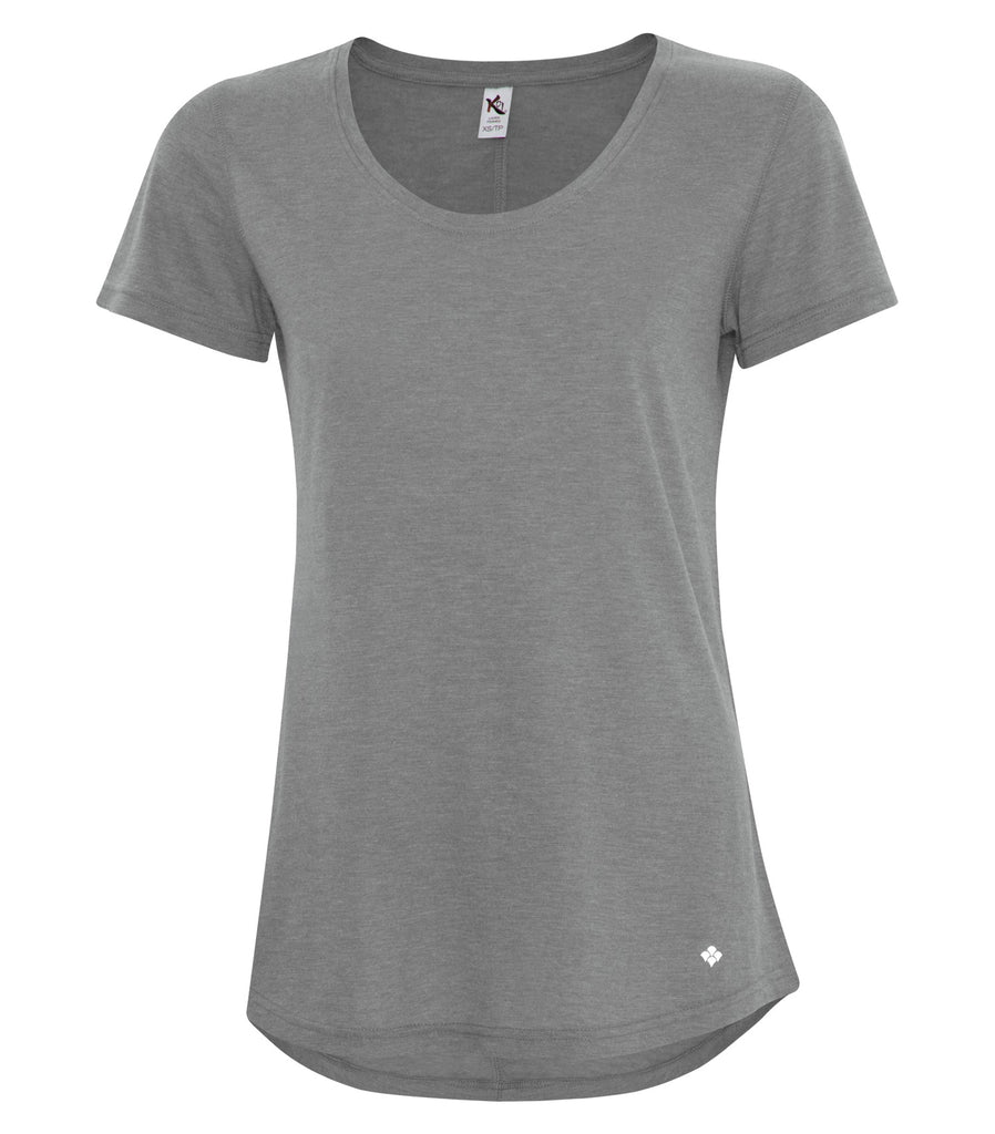 Koi KOI8036L Triblend Scoop Neck Relaxed Ladies Tee Shirt