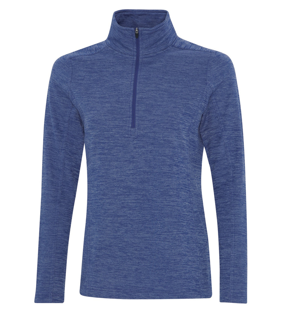 ATC L2022 Dynamic Heather Fleece 1/2 Zip Ladies Sweatshirt