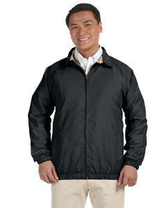 harriton adult microfiber club jacket m710