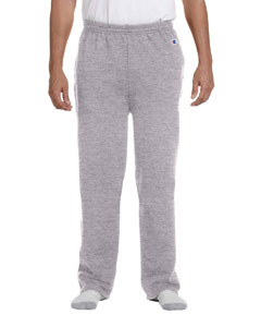 champion adult double dry eco open bottom fleece pant with pockets p800