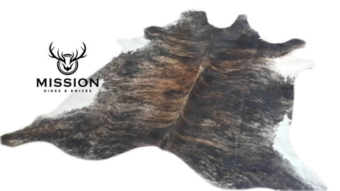 Amazing Tricolor BRINDLE Extra Large Cowhide Rug Cow skin Leather Carpet Cow Hide Area Rug Tapi Peau de Vache