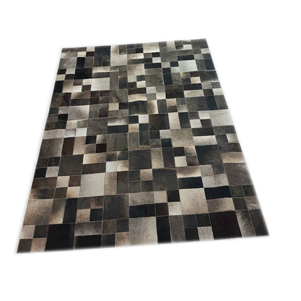 Cowhide Patchwork Rug Gray 1.8 x 2.4m (6 x 8 ft)