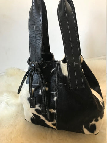 Cowhide  Purse Unique Piece Cow Hide Handbag. Leather Bag