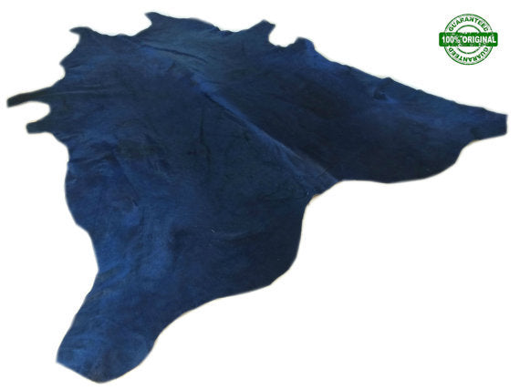 Cowhide Rug  NAVY BLUE  Dyed Gorgeus! Unique! XL  Cow Hide Rug Peau de Vache