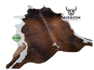 Amazing Brown and White LARGE Cowhide Rug Cow skin Leather Carpet Cow Hide Area Rug Tapi peau de vache