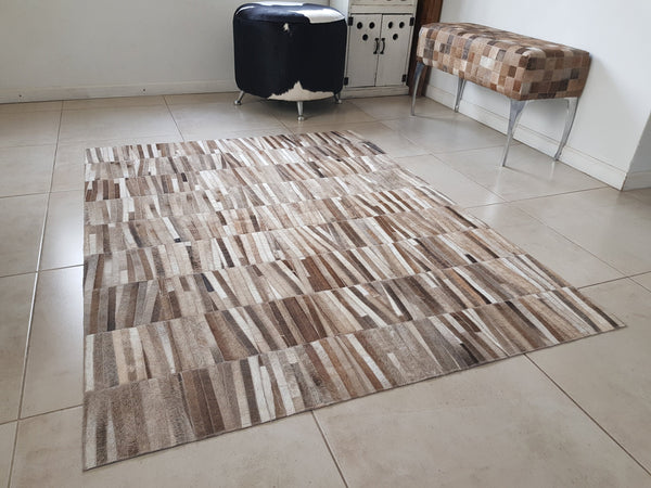 Unique! Cowhide Patchwork Rug 1.4 x 1.8m