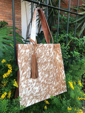 Cowhide  Handbag Unique Piece Cow Hide Handbag. Leather Bag.