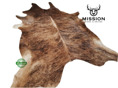 Amazing XL BRINDLE Cowhide Rug Cow skin Leather Carpet Cow Hide Area Rug Tapi peau de vache