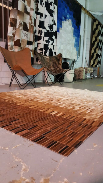 Cowhide Patchwork Rug AMAZING 6' x 8'