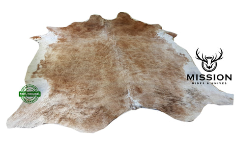 Amazing LARGE CARAMEL Cowhide Rug Cow skin Leather Carpet Cow Hide Area Rug Tapi peau de vache