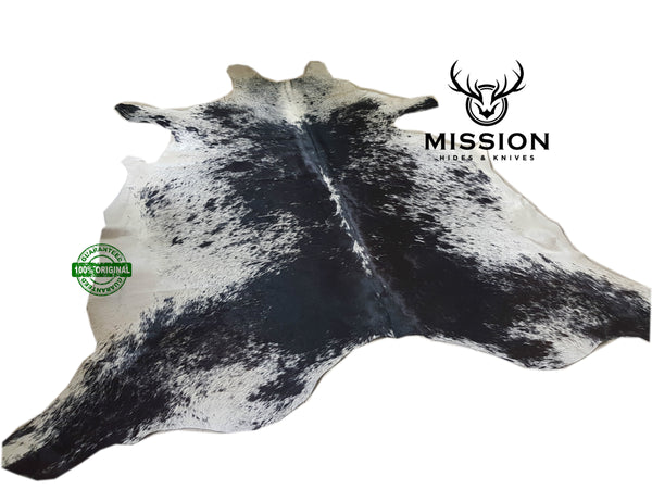 SALT & PEPPER  Cowhide Rug XXL  Kuhfell Teppich Cow Hide