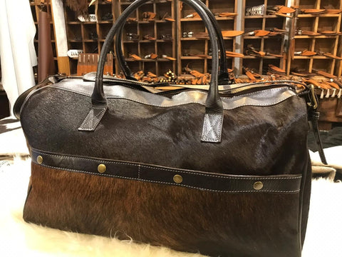 Cowhide Traveller Bag, Weekender Cowhide Bag