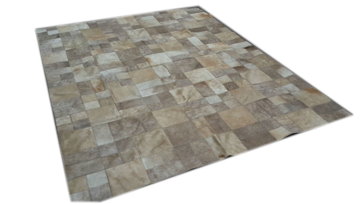 Cowhide Patchwork Rug 6 x 8 ft
