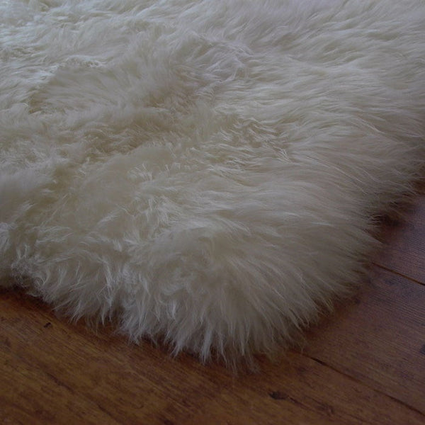 Sheepskin Rug Genuine 4' x 6'.
