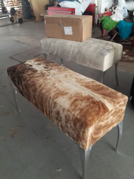 "COWHIDE BENCH 36"" x 14"""