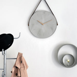 Cast Leather Clock