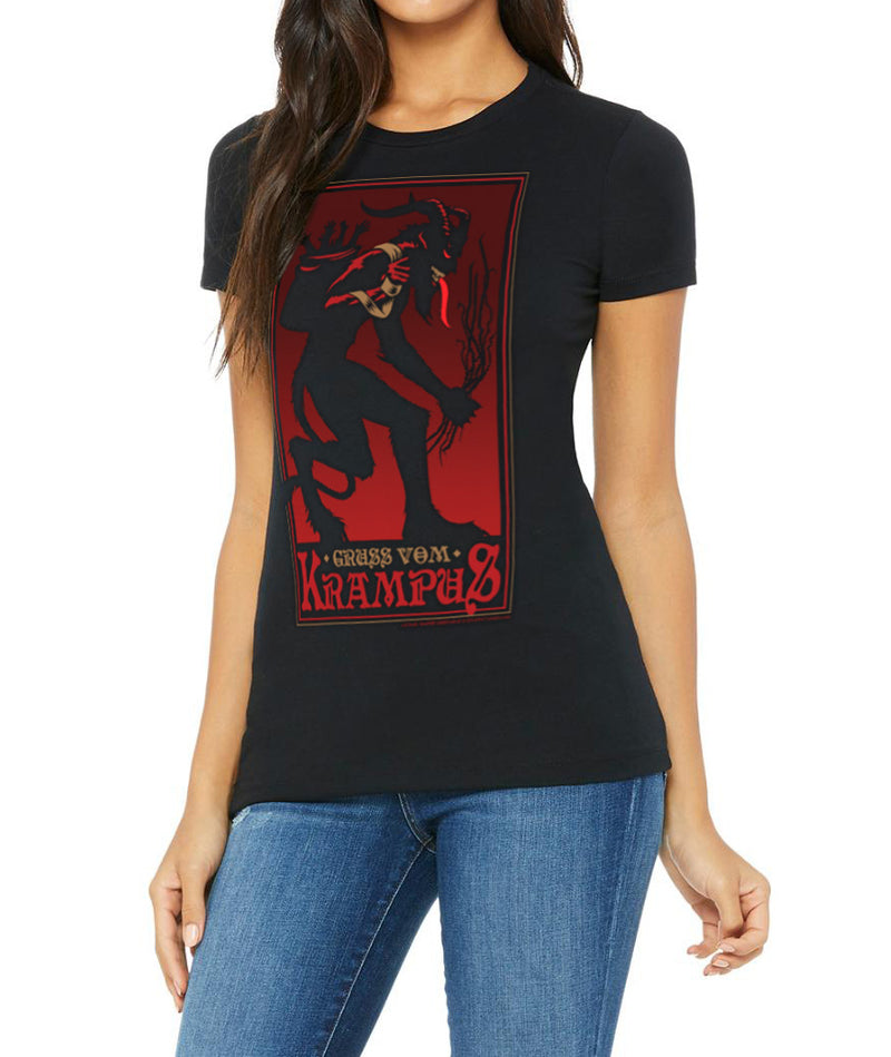 Krampus Womens Baby Doll T-Shirt