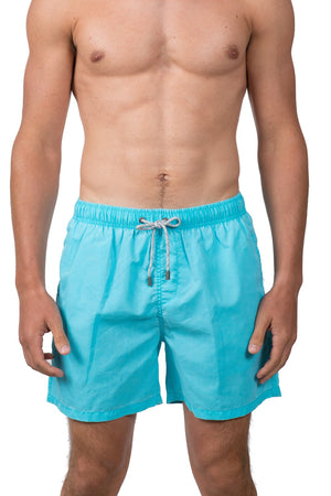 Mens Swim Vintage Wash-Teal