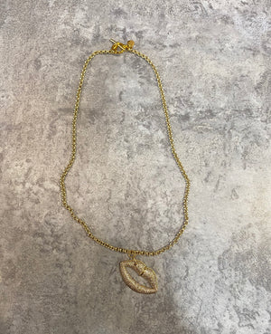 Gold Lips Lux & Lovers Necklace