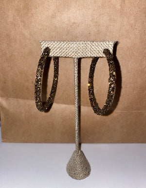 Sparkle Bronze Hoops