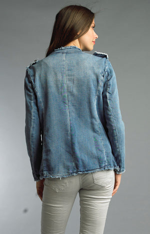 TP- Denim Military Jacket