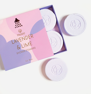 Musee Lavender & Lime Shower Steamers
