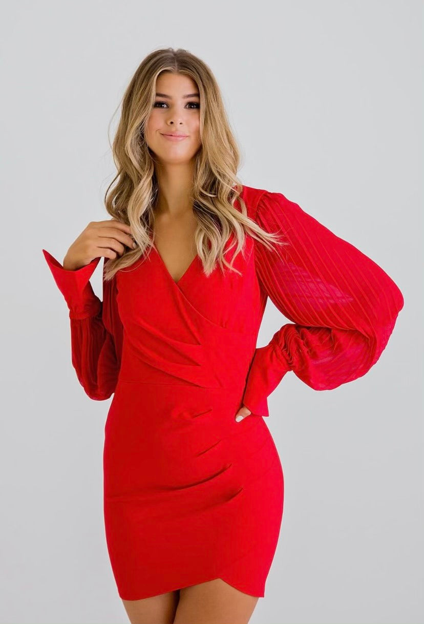 Karlie Red Vneck