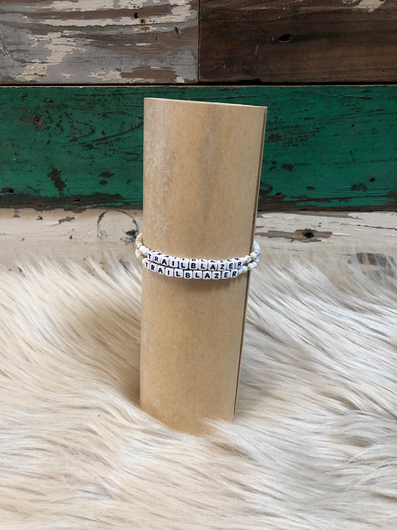 Little Words Bracelet - White Howlite
